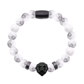 Howlite Lion Black