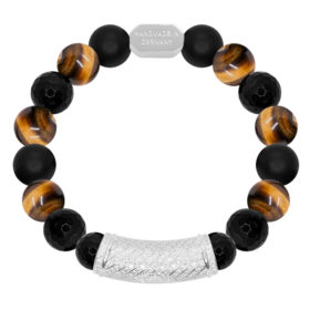 10MM Imperator - Gelber Tigerauge, Black Agate, Matt Onyx
