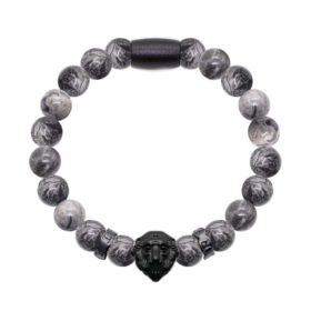 Gray Jasper Lion Black