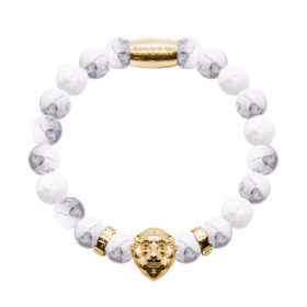 Howlite Lion Gold